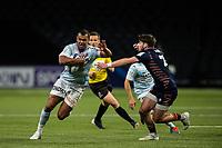 4th April 2021; Paris La Défense Arena, Nanterre, Paris, France; European Champions Cup Rugby, Racing 92 versus Edinburgh;  Kurtley James BEALE ( 15 - Racing ) gets past the tackle from C Shiel ( 21 - Edinburgh )