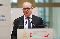 Roberto Gualtieri, Italian Minister of Economy<br /> Rome February 7th 2020. Tempio di Adriano. Meeting on the European balance.<br /> Foto Samantha Zucchi Insidefoto