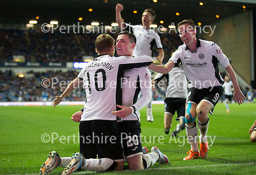 Rangers v St Johnstone...22.09.15  Scottish League Cup Round 3, Ibrox Stadium<br /> Michael O'Halloran celebrates his goal<br /> Picture by Graeme Hart.<br /> Copyright Perthshire Picture Agency<br /> Tel: 01738 623350  Mobile: 07990 594431