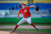 Washington Nationals pitcher Frankie Bartow (57) delivers a pitch during a Florida Instructional League game against the Miami Marlins on September 26, 2018 at the Marlins Park in Miami, Florida.  (Mike Janes/Four Seam Images)
