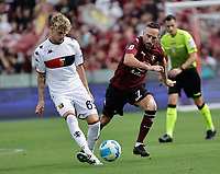 2nd October 2021; Arechi Stadium, Salerno, Italy; Serie A football, Salernitana versus Genoa : Nicolò Rovella of Genoa passes away from Frank Ribery of Salernitana