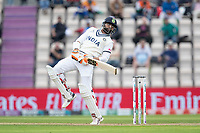 Ravindra Jadeja, India evades a well directed short delivery during India vs New Zealand, ICC World Test Championship Final Cricket at The Hampshire Bowl on 20th June 2021