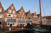 Nederland - Hoorn- 2020.  Huizen bij de haven van Hoorn.  De Veermanskade.   Foto ANP / HH / Berlinda van Dam