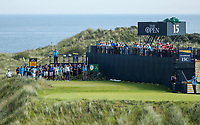150719 | The 148th Open - Monday Practice<br /> <br /> Jason Day of Australia tees off on the 16th during practice for the 148th Open Championship at Royal Portrush Golf Club, County Antrim, Northern Ireland. Photo by John Dickson - DICKSONDIGITAL