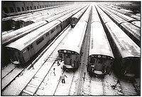 Snowy subway cars<br />