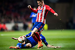 Kevin Gameiro (R) of Atletico de Madrid fights for the ball with Denis Vavro of FC Copenhague during the UEFA Europa League 2017-18 Round of 32 (2nd leg) match between Atletico de Madrid and FC Copenhague at Wanda Metropolitano  on February 22 2018 in Madrid, Spain. Photo by Diego Souto / Power Sport Images