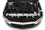 Car Stock 2021 Chevrolet Colorado LT 4 Door Pick-up Engine  high angle detail view