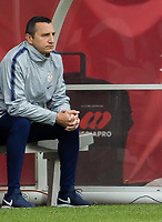 CARSON, CA - FEBRUARY 9: Vlatko Andonovski head coach of USA looking on from his bench during a game between Canada and USWNT at Dignity Health Sports Park on February 9, 2020 in Carson, California.