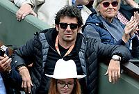 Internationaux de France de tennis de Roland-Garros - Paris - Patrick Bruel en tribune