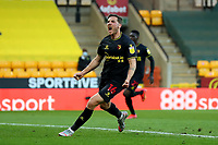 20th April 2021; Carrow Road, Norwich, Norfolk, England, English Football League Championship Football, Norwich versus Watford; Dan Gosling of Watford celebrates as he scores for 0-1 in the 57th minute