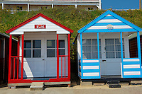 Beach huts at Southwold - Suffolk - England