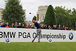 Pablo Larrazabal (ESP) tees off on the 1st tee to start his round on Day 2 of the BMW PGA Championship Championship at, Wentworth Club, Surrey, England, 27th May 2011. (Photo Eoin Clarke/Golffile 2011)