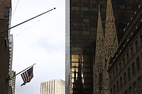 American flag; Fifth Avenue from West 49th st. looking north; 236pm, 08Feb2006