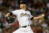 Houston Astros pitcher JA Happ #30 delivers during the Major League Baseball game against the Philadelphia Phillies at Minute Maid Park in Houston, Texas on September 13, 2011. Houston defeated Philadelphia 5-2.  (Andrew Woolley/Four Seam Images)