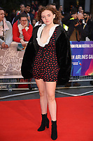 """Becky Fiennes<br /> arriving for the London Film Festival screening of """"The Ballad of Buster Scruggs"""" at the Cineworld Leicester Square, London<br /> <br /> ©Ash Knotek  D3438  12/10/2018"""