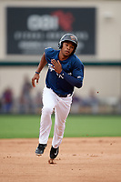 Lakeland Flying Tigers center fielder Jose Azocar (10) running the bases during the first game of a doubleheader against the St. Lucie Mets on June 10, 2017 at Joker Marchant Stadium in Lakeland, Florida.  Lakeland defeated St. Lucie 6-5 in fourteen innings.  (Mike Janes/Four Seam Images)
