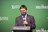 SÃO PAULO, SP, 31.05.2021 - COVID-19-SP - Ricardo Palácio, Diretor Médico de Pesquisa Clínicas do Instituto Butantan, participa de apresentação de informações sobre o combate ao coronavírus (COVID-19) em São Paulo, no Instituto Butantan, nesta segunda-feira, 31. (Foto: André  Ribeiro/Brazil Photo Press)