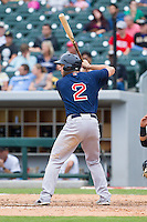 Blake Swihart (2) of the Pawtucket Red Sox at bat against the Charlotte Knights at BB&T Ballpark on August 10, 2014 in Charlotte, North Carolina.  The Red Sox defeated the Knights  6-4.  (Brian Westerholt/Four Seam Images)
