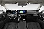 Stock photo of straight dashboard view of 2021 Toyota Mirai Executive 4 Door Sedan Dashboard