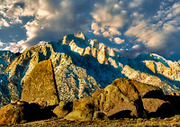 Alabama Hills sunrise with Lone Pine Peak, California