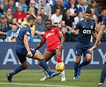 04.08.2019 Kilmarnock v Rangers: Sheyi Ojo with Gary Dicker and Mohammed El Makrini