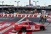 #18: Denny Hamlin, Joe Gibbs Racing, Toyota Supra SportClips celebrates his win