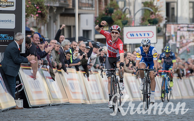 Jasper de Buyst (BEL/Lotto-Soudal) wins Binche-Chimay-Binche 2017 AND takes the overall win in the 2017 Napoleon Games Cycling Cup in the last race of this series<br /> <br /> Binche-Chimay-Binche 2017 (BEL) 197km<br /> 'Mémorial Frank Vandenbroucke'