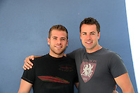 One Life To Live Scott Evans & Y&R John Driscoll as they donate their time at the 12th Annual SoapFest - Painting Party to benefit Marco Island YMCA, theatre program & Art League of Marco Island on May 15, 2010 on Marco Island, FLA. (Photo by Sue Coflin/Max Photos)