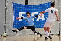 Kaiu Wright of Selwyn College during the Futsal NZ Secondary Schools Junior Boys Final between Hamilton Boys High School and Selwyn College at ASB Sports Centre, Wellington on 26 March 2021.<br /> Copyright photo: Masanori Udagawa /  www.photosport.nz