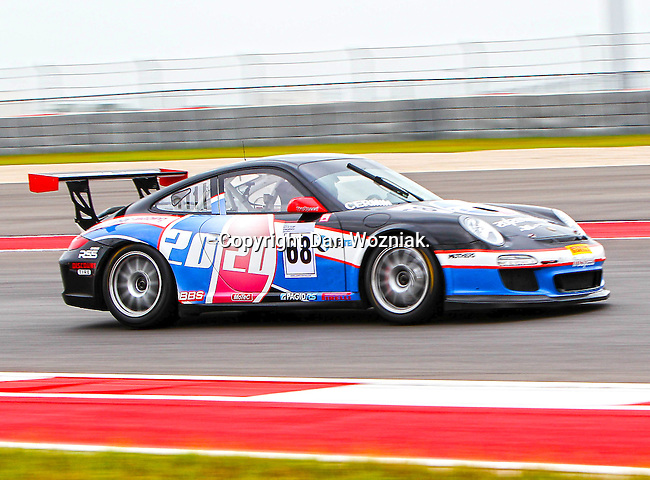 Joe Cermin (68) in action during the V8 Supercars and the Porsche GT3 Cup cars practice sessions at the Circuit of the Americas race track in Austin,Texas. ..