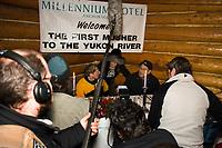 Paul Gebhardt @ *1st Musher to Reach Yukon* Banquet w/guest Emmitt Peters Ruby Alaska 2006 Iditarod