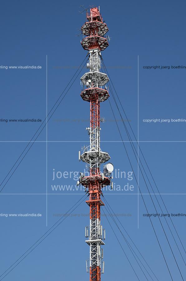 Germany, Cellular transmission pole / DEUTSCHLAND, Garding, Sendemast fuer Mobilfunk
