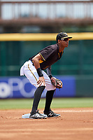 Bradenton Marauders second baseman Alfredo Reyes (2) during the first game of a doubleheader against the Jupiter Hammerheads on May 27, 2018 at LECOM Park in Bradenton, Florida.  Bradenton defeated Jupiter 13-5.  (Mike Janes/Four Seam Images)