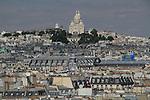 Sacre Coeur Bascillica from the Pompidou Center, Paris, France, Europe.