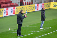 3rd October 2020; Riverside Stadium, Middlesbrough, Cleveland, England; English Football League Championship Football, Middlesbrough versus Barnsley; Middlesbrough Manager Neil Warnock animated on the sideline