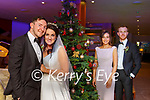 Daithi Casey and his Bride Stephanie Egan with Sarah Egan and Fionn Fitzgerald at the wedding reception in the Aghadoe Heights Hotel on Friday