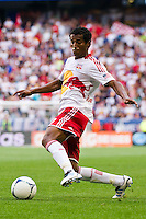 Roy Miller (7) of the New York Red Bulls. The New York Red Bulls defeated DC United 3-2 during a Major League Soccer (MLS) match at Red Bull Arena in Harrison, NJ, on June 24, 2012.