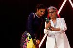 Kiti Manver and Juana Acosta (l) during Malaga Film Festival Gala at Teatro Cervantes.August 24 2020. (Alterphotos/Francis González)