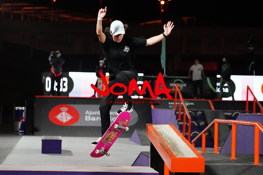 6th November 2020; Parc del Forum, Barcelona, Catalonia, Spain; Imagin Extreme Barcelona; picture show Charlotte Hym (FRA) winner women street final