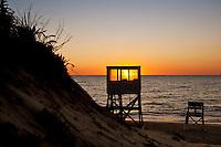 Sunrise at Nauset Beach, Orleans, Cape Cod, MA, USA