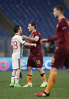 Football Soccer: Europa League Round of 16 second leg, Roma-Lyon, stadio Olimpico, Roma, Italy, March 16,  2017. <br /> during the Europe League football soccer match between Roma and Lyon at the Olympique stadium, March 16,  2017. <br /> Despite losing 2-1, Lyon reach the quarter finals for 5-4 aggregate win.<br /> UPDATE IMAGES PRESS/Isabella Bonotto