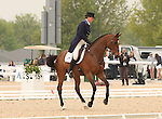 22 April 2010.  Leyland and Amy Tryon finish the dressage stage of the Rolex Three Day event with 53.7.