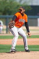 San Francisco Giants minor league pitcher Adalberto Mejia #68 during an instructional league game against the Colorado Rockies at the Salt River Flats Complex on October 4, 2012 in Scottsdale, Arizona.  (Mike Janes/Four Seam Images)