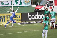 Campinas (SP), 20/01/2021 - Guarani-Vitória - Goleiro Gabriel Mesquita sofre gol. Partida entre Guarani e Vitória válida pela 36ª rodada do Campeonato Brasileiro da Série B, no estádio Brinco de Ouro em Campinas, interior de São Paulo, nesta quarta-feira (20).