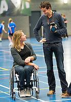 03-01-13, Rotterdam, Tennis, Selection ballkids for ABNAMROWTT, Esther Vergeer and Jan-Willem de Lange
