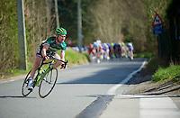 De Ronde van Vlaanderen 2012..Thomas Voeckler trying to escape from the pack