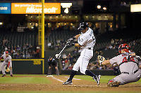 September 24, 2008: Seattle Mariners' Ichiro Suzuki at-bat during a game against the Los Angeles Angels of Anaheim at Safeco Field in Seattle, Washington..