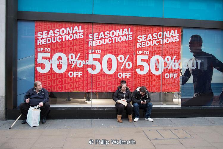 Primark, January sales, Oxford Street, London.