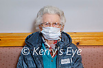 Annie Kissane from Ballybunion receiving her vaccine at the Convent Street Clinic in Listowel on Thursday.