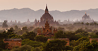 Sunrise over the temples of Bagan, Myanmar